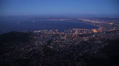 Cape Town, South Africa aerial - stock footage