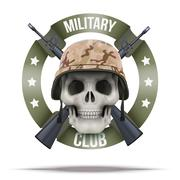 Military club or company badges and labels logo - stock illustration