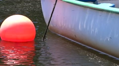 Dory with Buoy Stock Footage
