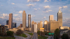 Time lapse - Downtown Atlanta skyline, Georgia, United States of America Stock Footage