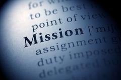 Mission - stock photo