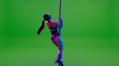 Pole Dancer Stock Footage
