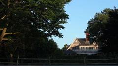 East Hampton homes - stock footage