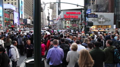 NYC busy streets Stock Footage