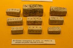 Exhibition from Archeological Museum in Manabi, Ecuador Stock Photos