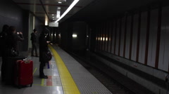 Japanese commuters Stock Footage