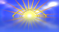 Uplifting sun rays animated abstract motion background loop Stock Footage