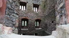 Schauenburg Oberkirch Castle Ruin tilt Stock Footage