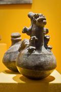 Exhibition from Archeological Museum in Manabi, Ecuador - stock photo