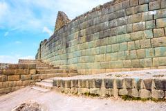 Ingapirca, Inca wall and town, largest known Inca ruins in Ecuador. Stock Photos