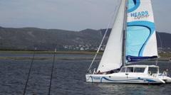 'Heads Explorer' sailboat - stock footage