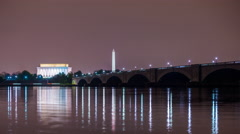 Washington DC Skyline Time Lapse Stock Footage