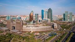 Kazakhstan, Astana, City Skyline Stock Footage
