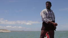 Fishing in India Stock Footage
