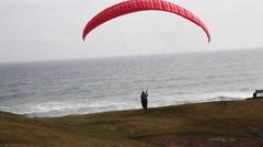 Man tries parasailing Stock Footage