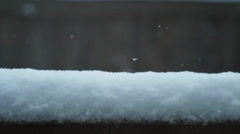 Snowfall in slow motion Stock Footage