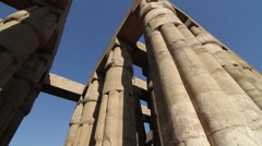 Ancient Egyptian columns, pan - stock footage