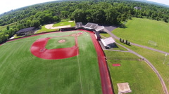 Bainton Field, Rutgers aerial Stock Footage