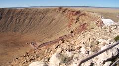 Arizona meteor crater Stock Footage