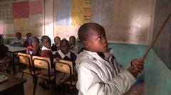 Kenyan schoolboy Stock Footage