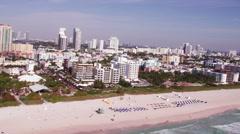 Miami Beach Aerial 3 Custom - stock footage