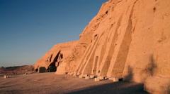 Nefertari's Temple in Abu Simbel, Egypt Stock Footage