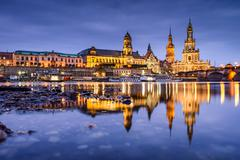 Dresden Germany Skyline - stock photo