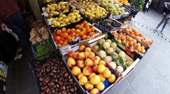 Fruit stand in Italy Stock Footage