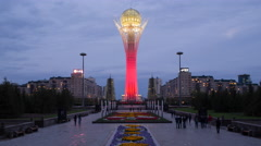 Kazakhstan, Astana, Bayterek Tower Stock Footage