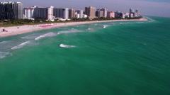 Miami Beach Aerial 4 Custom - stock footage