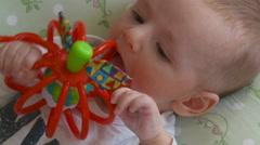 Newborn baby - stock footage