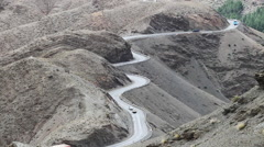 Winding road along a cliff Stock Footage