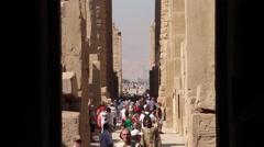 Tourists at Luxor Temple Stock Footage
