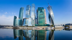 Russia, Moscow-City, business skyscrapers - T/Lapse Stock Footage