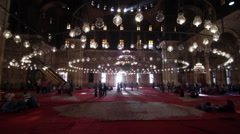 Alabaster Mosque, Citadel of Cairo Stock Footage