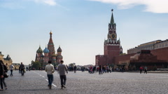Russia, Moscow, Kremlin, St Basils, Red Square - T/Lapse - stock footage