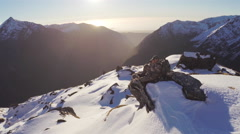 Hunting glassing for game on mountain side. Stock Footage