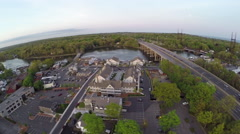 Aerial highway over water Stock Footage