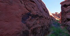 Valley of Fire Landscape Wilderness Scenic with Smooth Pan Stock Footage