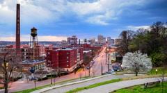 Richmond Virginia Skyline Stock Footage