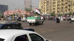 Protestors in Tahrir Square, Egypt Stock Footage