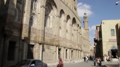 Coptic Cairo, wide exteriors Stock Footage