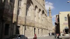 Coptic Cairo, wide exteriors Stock Footage