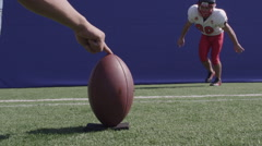 Football Bluescreen Stock Footage