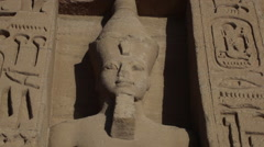 Ramesses II statue - stock footage