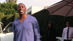 Terrell Owens in Los Angeles Stock Footage
