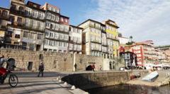 Porto, Portugal cityscape Stock Footage
