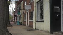 Alexandria Virginia old city sidewalk business 4K Stock Footage
