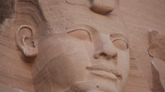 Statue of Ramesses II Stock Footage