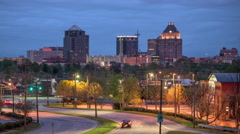 Greensboro North Carolina Skyline Time Lapse Stock Footage